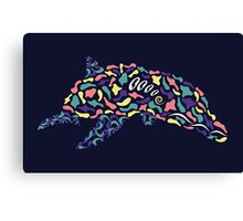 Abstract Dolphin Canvas Print