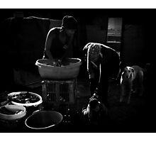 "Washday in ""slumtown"" Photographic Print"