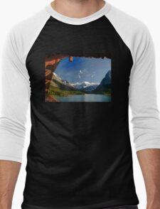 Glacier National Park Men's Baseball ¾ T-Shirt
