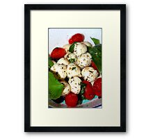 Cherry Tomato and Mozzarella Salad Framed Print