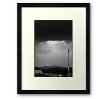 Stormy city in Black and White Framed Print