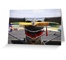Vintage Nose Art WWII Airplane (L5 SENTINEL) Greeting Card
