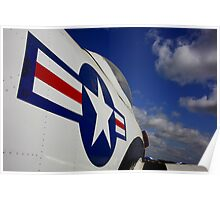 WWII Airplane - US Airforce Poster