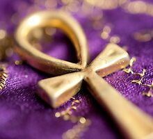 Ankh on Purple by Yvonne Roberts