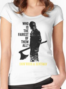 Who is the fairest of them all? Women's Fitted Scoop T-Shirt