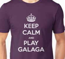 KEEP CALM and play Galaga Unisex T-Shirt