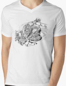 BBC Television Centre floorplan Mens V-Neck T-Shirt