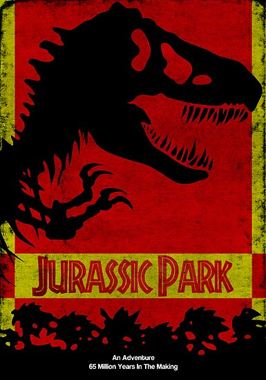 Unofficial Jurassic Park Movie Poster by Gruntbuddy