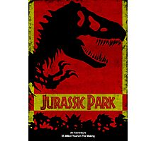 Unofficial Jurassic Park Movie Poster Photographic Print