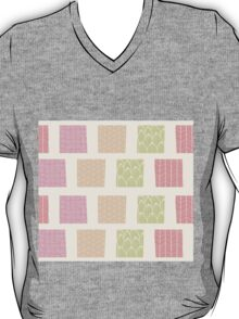 Seamless pattern with ornamental square shapes and line drawings T-Shirt