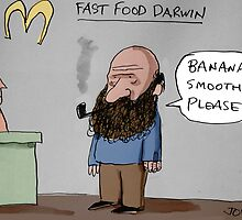 fast food Darwin by Loui  Jover