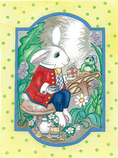 RABBIT AND FROG by Lynn Wright