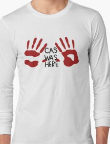 Castiel was here (handsy) Long Sleeve T-Shirt