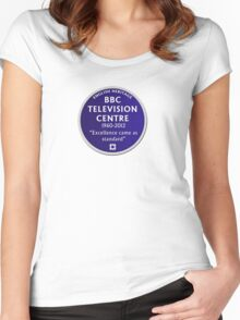Blue Plaque for BBC Television Centre Women's Fitted Scoop T-Shirt
