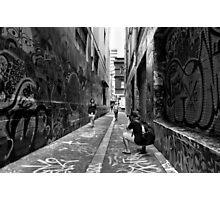 Making memories - Melbourne Lane ways Photographic Print