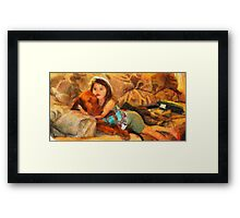 Vizsla Milo and Cousin Autumn Framed Print