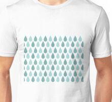 Seamless pattern with ornamental rain drops and line drawings Unisex T-Shirt