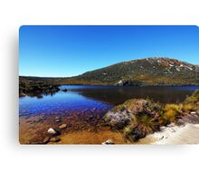 Beautiful Tasmania - Dove Lake from boatshed Canvas Print