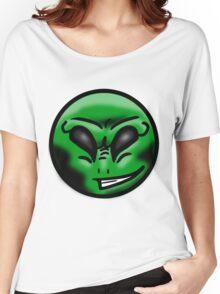 Alien Face (Green) Women's Relaxed Fit T-Shirt