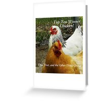 Top Ten - Chicken Banner Greeting Card