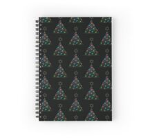 Christmas Trees Pattern Spiral Notebook