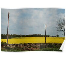 Farming yellow Poster