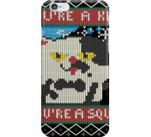 Knitted Ugly Sweater Splatoon Judd the Cat from Nintendo iPhone Case/Skin