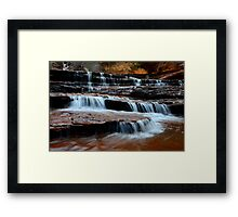 Waterfall On North Creek Framed Print