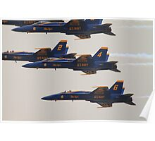 Blue Angels Over The Hudson Rv. Poster