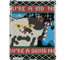 Knitted Ugly Sweater Splatoon Judd the Cat from Nintendo iPad Case/Skin