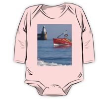 Colourful inshore fishing coble One Piece - Long Sleeve