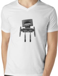 Cassette Robot, or Cassbot if you will Mens V-Neck T-Shirt