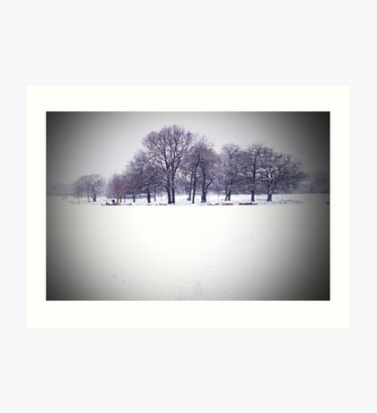 Brockwell Park Tree Circle in Winter Art Print