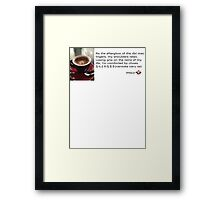 Caffeinated Poetry - Nantoka naru sa - Sticker Framed Print