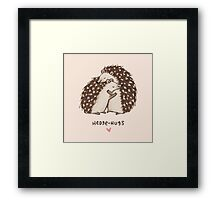 Hedge-hugs Framed Print