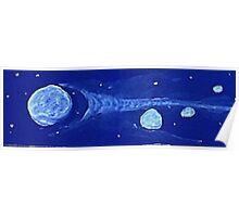 Hurling in space., watercolor  Poster