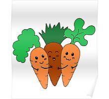 Cute Carrots Poster