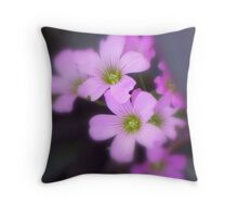 Lavender Spring Beauties Throw Pillow