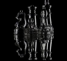 Glass Chess by Oil Water Artt