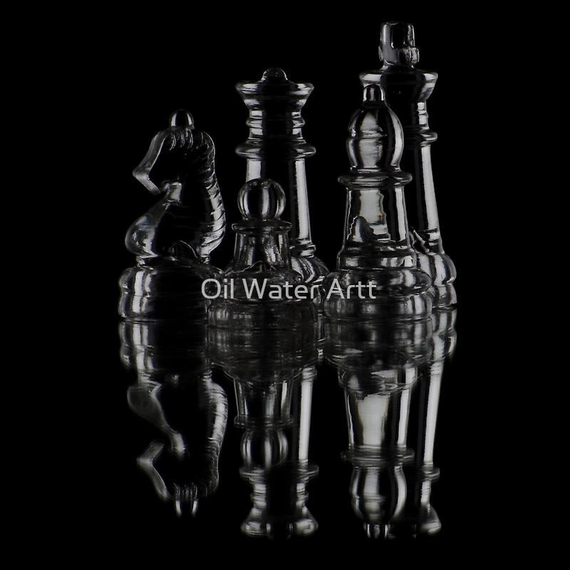 Glass Chess by Oil Water Artt