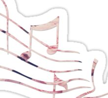Floral Music Note Sticker
