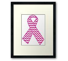 Breast Cancer Ribbon Framed Print
