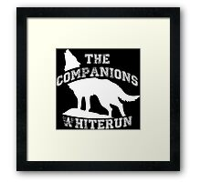 The companions of Whiterun - White Framed Print