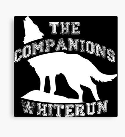 The companions of Whiterun - White Canvas Print
