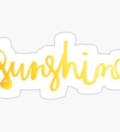 Gold Sunshine Sticker