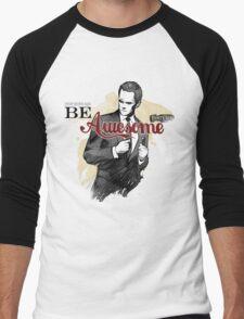 Be Awesome Men's Baseball ¾ T-Shirt