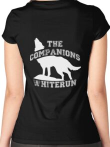 The companions of Whiterun - White Women's Fitted Scoop T-Shirt