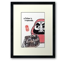 The Angler (Daruma Doll Series) Framed Print
