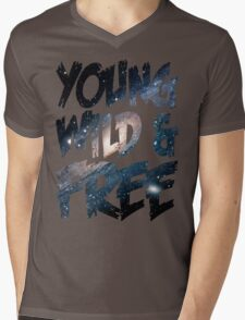 Young Wild and Free Mens V-Neck T-Shirt