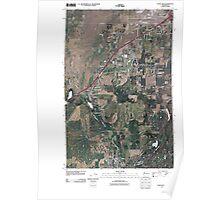 USGS Topo Map Washington State WA Four Lakes 20110503 TM Poster